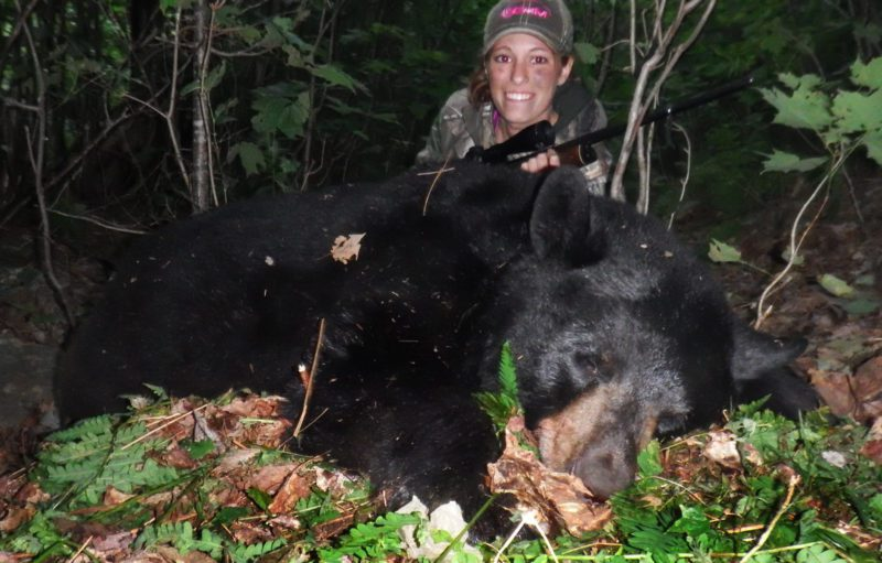 Abby's first bear!